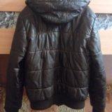 Кожаная куртка bershka. Фото 2.