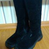 Зимние замшевые сапоги. Фото 4.