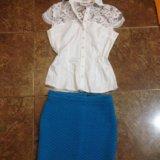 Блуза и юбочка новые. Фото 1.
