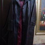 Пальто кожаное. Фото 2.
