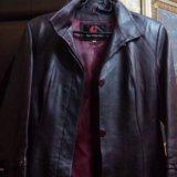 Пальто кожаное. Фото 3.