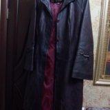 Пальто кожаное. Фото 4.