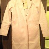 Новое пальто легкое белое 42/44 р-р. Фото 1.
