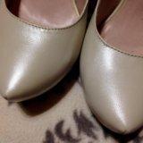 Туфли кожаные бежевые. Фото 1. Рязань.