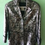 Кожаный пиджак (куртка). размер 46-48. Фото 1.