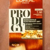 Краска для волос l`oreal prodigy, оттенок 7.40. Фото 2. Воткинск.