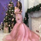 Платье розовое длинное в пол. Фото 1.