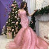 Платье розовое длинное в пол. Фото 2. Москва.