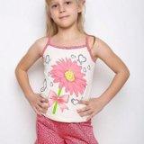 Пижамки на девочек - новые! р.122и 140. Фото 1.