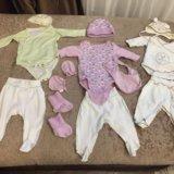 Вещи для новорождённой. Фото 1.