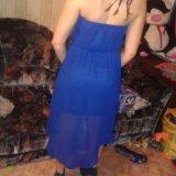 Синее платье. Фото 1. Санкт-Петербург.