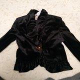 Велюровый нарядныц пиджак. Фото 1.
