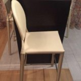 Барные стулья обтянутые кожей цена за 4  штуки. Фото 1. Москва.