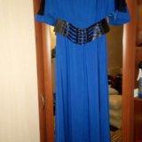 Платье в пол 50-52 размер. Фото 1.