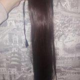 Хвост из волос. Фото 1.