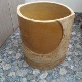 Вазон керамический большой. 34x35 см. горшок. Фото 1.