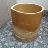 Вазон керамический большой. 34x35 см. горшок. Фото 2.