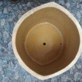 Вазон керамический большой. 34x35 см. горшок. Фото 3.