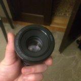 Canon ef 50mm f/1.8 stm,чехол и бленда. Фото 1. Москва.