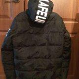 Зимняя мужская куртка на полиэстере. Фото 3.