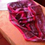 Новый fabretti натуральный шелк,палантин-платок. Фото 3. Грозный.