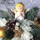 Новогодняя настольная композиция с ангелочком.. Фото 2.