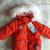 Новая зимняя куртка baby club р.86. Фото 1.