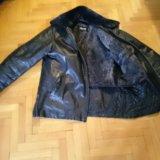 Куртка мужская кожаная зимняя-весенняя. Фото 1.
