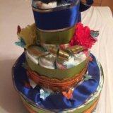 Торт из подгузников. Фото 1.