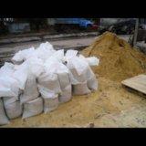 Песок в мешках. Фото 1. Новый Кяхулай.