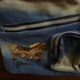 Сумка джинсовая. Фото 3.