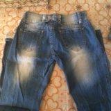 Продам рваные джинсы размер 42-44. Фото 2.