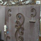 Ворота металлические. Фото 1.