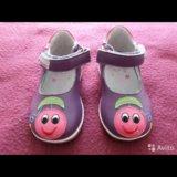Кожаные туфельки или сандалии 19 размер. Фото 1. Челябинск.