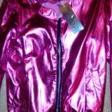 Розовая перламутровая куртка ветровка 42-44?. Фото 1. Краснознаменск.
