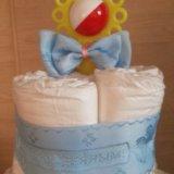 Торт из памперсов. Фото 1.