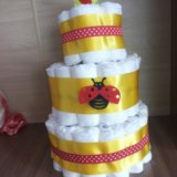 Торт из памперсов. Фото 3.