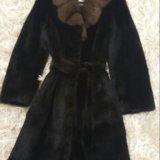 Шуба норковая с соболиным воротником. Фото 1.