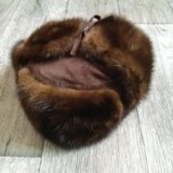 Норковая шапка ушанка. Фото 4. Таганрог.