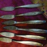 Мельхиоровые ножи для пирожных,тортов. Фото 1.
