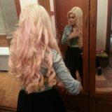 Наращивание волос блонд 60 см. Фото 2.