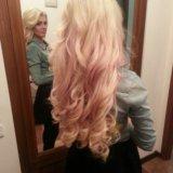 Наращивание волос блонд 60 см. Фото 3.