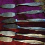 Мельхиоровые ножи для пирожных,тортов. Фото 3.