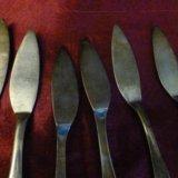 Мельхиоровые ножи для пирожных,тортов. Фото 4.