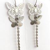 Серьги с бабочками. Фото 1.