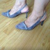 Туфли серые. Фото 1.