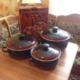 Посуда хозяйственная эмалированная набор. Фото 1.