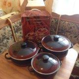 Посуда хозяйственная эмалированная набор. Фото 2.
