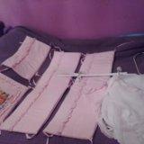 Красивый набор в кроватку розовый. Фото 1.