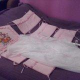 Красивый набор в кроватку розовый. Фото 4.